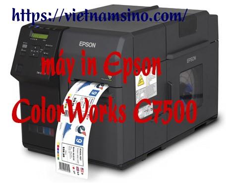 Máy in tem nhãn màu Epson C7500 bán chạy nhất